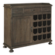 Universal Furniture Great Rooms - Berkeley Small Wine Cabinet in Brownstone 311774