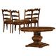 Hekman Rue de Bac 5 Piece Round Pedestal Dining Set in Cognac