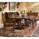Hekman Rue de Bac 7 Piece Rectangular Pedestal Dining Set in Cognac