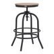 Zuo Modern Twin Peaks Counter Stool in Distressed Natural 98184