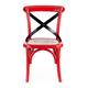 Zuo Modern Baby Larkin Chair in Red & Straw Cushion (Set of 2) 98288