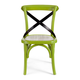 Zuo Modern Baby Larkin Chair in Green & Straw Cushion (Set of 2) 98289