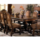 Crown Mark Neo Renaissance Double Pedestal Dining Table in Warm Brown 2400TL