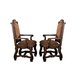 Crown Mark Neo Renaissance Dining Arm Chair in Warm Brown (Set of 2) 2401A