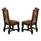 Crown Mark Neo Renaissance Dining Side Chair in Warm Brown (Set of 2) 2401S