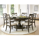 Universal Furniture California 7pc Round Dining Room Set w/ X-Back Side Chairs in Hollywod Hills