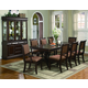 Crown Mark Merlot 7pc Double Pedestal Dining Set