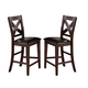 Crown Mark Sierra X-Back Counter Height Chair (Set of 2) 2703S-24