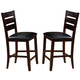 Crown Mark Bardstown Counter Height Chair in Espresso (Set of 2) 2752S-24