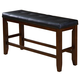 Crown Mark Bardstown Counter Height Bench in Espresso 2752-BENCH