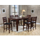 Crown Mark Bardstown 7 Piece Counter Height Set in Espresso