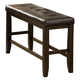 Crown Mark  Elliot Counter Height Bench in Dark Brown 2728-BENCH