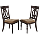 Crown Mark Diana Side Chair in Dark Cappuccino (Set of 2) 2165S