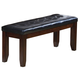 Crown Mark Bardstown Bench in Espresso 2152-BENCH