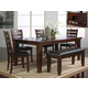 Crown Mark Bardstown 8 Piece Dining Set in Espresso