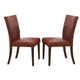 Crown Mark Micah Side Chair in Red (Set of 2) 1250S-RD