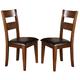 Crown Mark Figaro Side Chair in Warm Medium Brown (Set of 2) 2101S