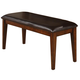 Crown Mark Figaro Dining Room Bench in Warm Medium Brown 2101-BENCH