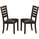 Crown Mark  Elliot Side Chair in Espresso (Set of 2) 2328S