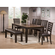 Crown Mark Elliot 8 Piece Dining Set in Espresso