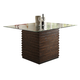 Crown Mark Micah Counter Height Table with Glass Top in Medium Brown 1750T-54