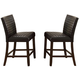 Crown Mark Micah Counter Height Chair in Espresso (Set of 2) 1750S-24-ESP
