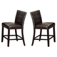 Crown Mark Bruce Square Counter Height Stool in Espresso (Set of 2) 2767S-24