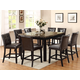 Crown Mark Bruce 7 Piece Square Counter Height Set in Espresso