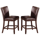 Crown Mark Ferrara Counter Height Chair in Dark Brown (Set of 2) 2723S-24