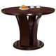 Crown Mark Daria Counter Height Round Pedestal Table in Espresso 2734T-54