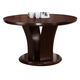 Crown Mark Daria Round Pedestal Dining Table in Espresso 2234T-54