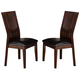 Crown Mark Daria Dining Side Chair in Espresso (Set of 2) 2234S-ESP