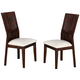 Crown Mark Daria Dining Side Chair in White (Set of 2) 2234S-WH