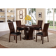 Crown Mark Daria 5 Piece Round Pedestal Dining Set in Espresso