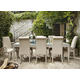 Universal Furniture California 9pc Dining Room Set w/ Upholstered Chairs in Malibu