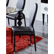 ESF Furniture 1001 Chair in Black (Set of 2)
