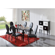 ESF Furniture 767/1001 7-Piece Dining Room Set in Black