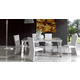 ESF Furniture Coco 7-Piece Dining Room Set in White
