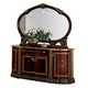 ESF Furniture Luxor Mirror in Mahogany