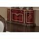 ESF Furniture Luxor 4-Door Buffet in Mahogany