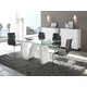 ESF Furniture Wave 5-Piece Dining Room Set in White