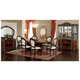 ESF Furniture Luxor 7pcs Dining Table Set in Mahogany
