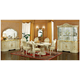 ESF Furniture Leonardo 7pc Dining Table Set in Ivory