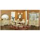 ESF Furniture Leonardo 7pc Dining Table Set in Ivory