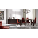 ESF Furniture Inessa 5-Piece Dining Room Set in Wenge
