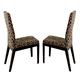 ESF Furniture Ada Chair in Beige/Fume (Set of 2)