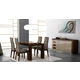 ESF Furniture Irene 5-Piece Dining Room Set in Wenge Lacquer