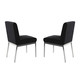ESF Furniture Lily Chair in Black (Set of 2)