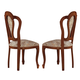 ESF Furniture Milady Side Chair in Walnut (Set of 2)