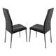 ESF Furniture Patry Chair in Black (Set of 2)